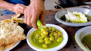 Pressing Fresh Olive Oil from the Press near Nazareth