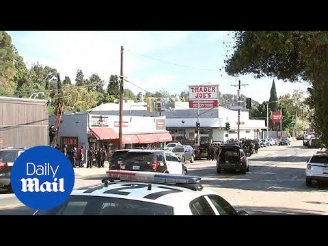 Los Angeles police outside Trader Joe's amid reports of shooting