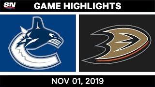 Nhl Highlights | Canucks Vs Ducks – Nov. 1st 2019
