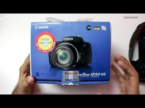 Canon PowerShot SX50 HS Mega Zoom Camera Unboxing & Overview