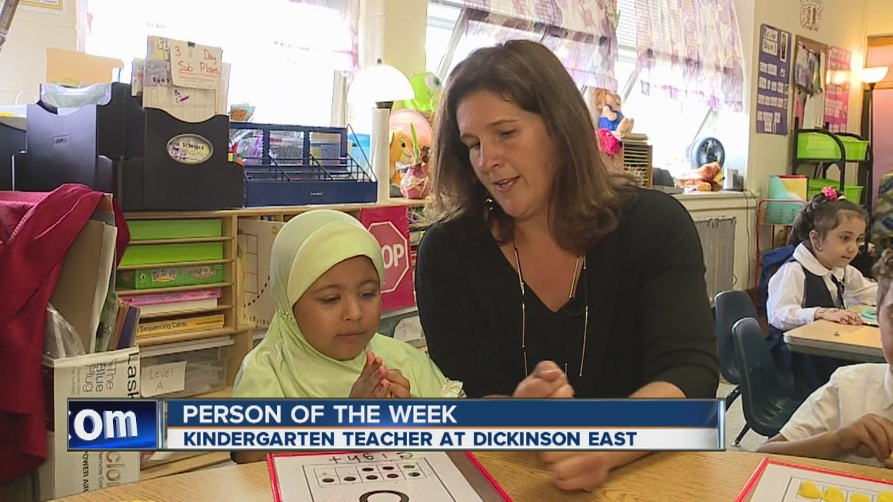 Person of the Week - Kindergarten teacher at Dickinson East - YouTube