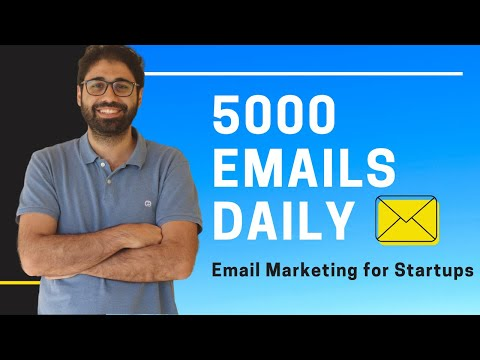 Email Marketing Strategy for beginners: Send 5K Emails Daily for Small Businesses.