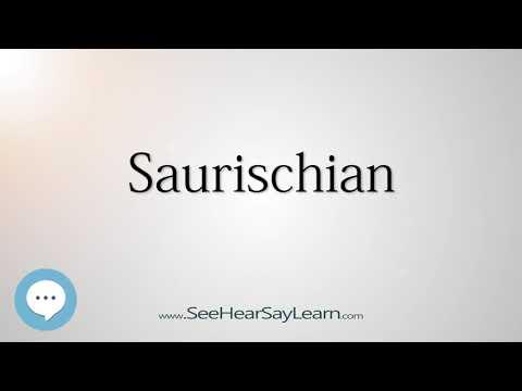 Saurischian - Dinosaur Names 🔊☄