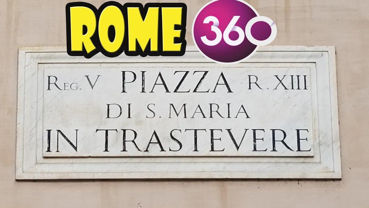 Piazza Di Santa Maria in Trastevere - The Best of Rome in 360 .
