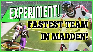 Madden 17 EXPERIMENT - Fastest Players At EVERY Position! (MUT 17 Experiment)