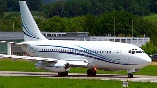 RARE! Boeing 737-200 Take-Off at Bern (July 2011) - Great JT8D Sound