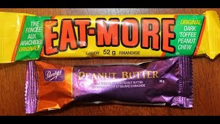 Eat-more & Purdy's Peanut Butter Candy Bar Review – From Canada March 2015