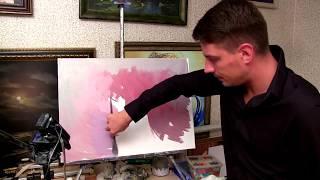 Живопись маслом  Урок рисования цветов Александра Южакова 1