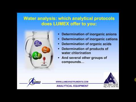 CE webinar: Fast, Accurate, and Reliable Chemical Analysis of Water