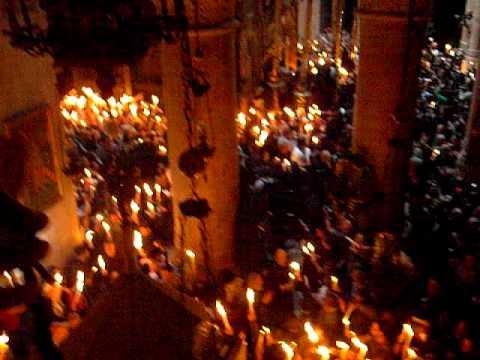Holy Fire, Jerusalem, Easter 2009