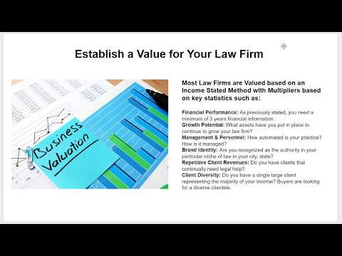 How to Value a Law Firm for Sale |