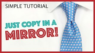 How to Tie-a-Tie - The Quick and Easy 'Oriental' Tie Knot (Mirrored)