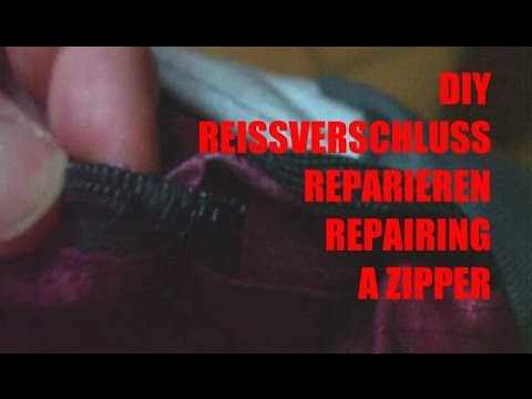 rei verschlu reparieren repairing a zipper diy youtube. Black Bedroom Furniture Sets. Home Design Ideas