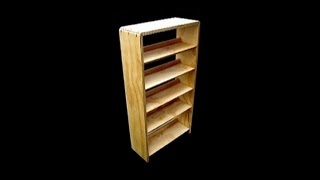 Plywood Bookcase - Gluing The Carcass