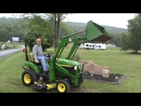 "2005 John Deere 2210 Compact Tractor With 210 Loader And 54"" Belly Mower For Sale"