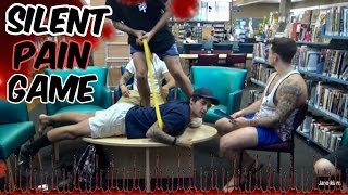 One of Janoskians's most viewed videos: Silent Pain Game (IN A LIBRARY)