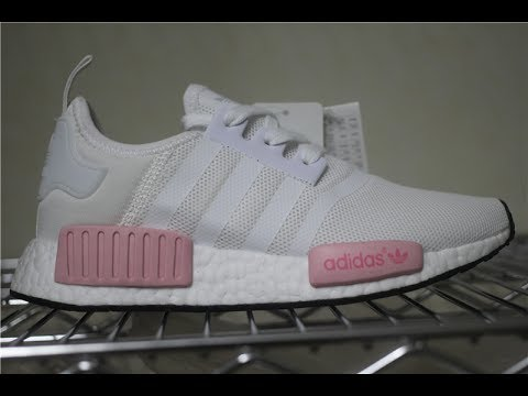 8c061b5b4 Adidas NMD Runner R1 W Icy Pink Rose White Ice Icey BY1916 - YouTube