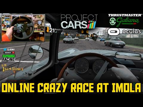 Project Cars VR - Oculus CV1 - Online Crazy Race - Mercedes Benz 300SL @ Imola - Thrustmaster T300