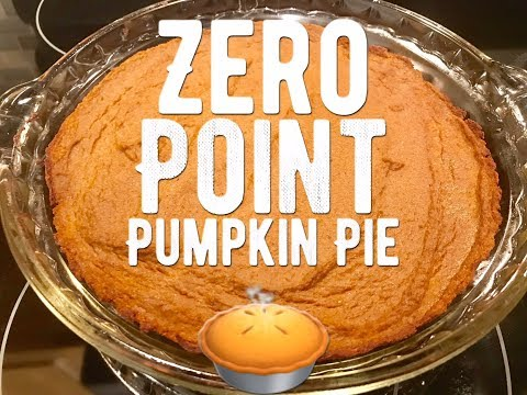 Weight Watchers Freestyle - Zero Point Pumpkin Pie!! Easy!