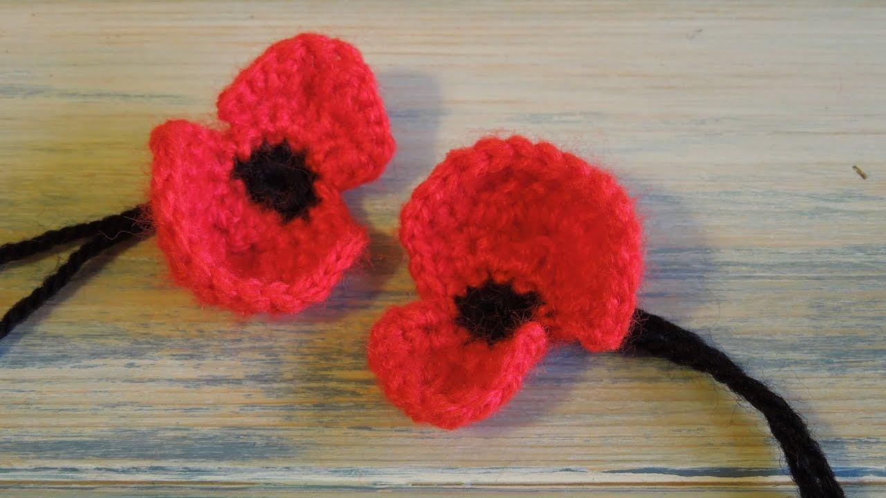 crochet how to crochet a poppy youtube