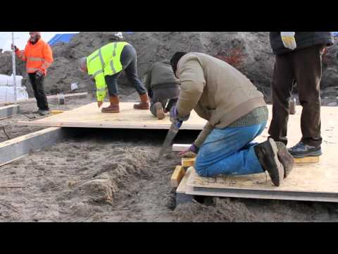 BUILD PROJECT IN CALAIS 'JUNGLE' REFUGEE CAMP,  JANUARY 2016