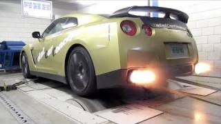 Nissan GT-R Switzer P800 - Dyno run with backfire!