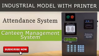 Attendance System | Canteen Management System | Industrial Model with Printer | Star Link