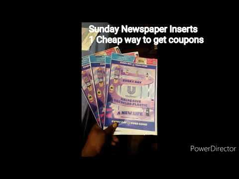 Sunday Paper Inserts – 1 cheap way to get Coupon inserts