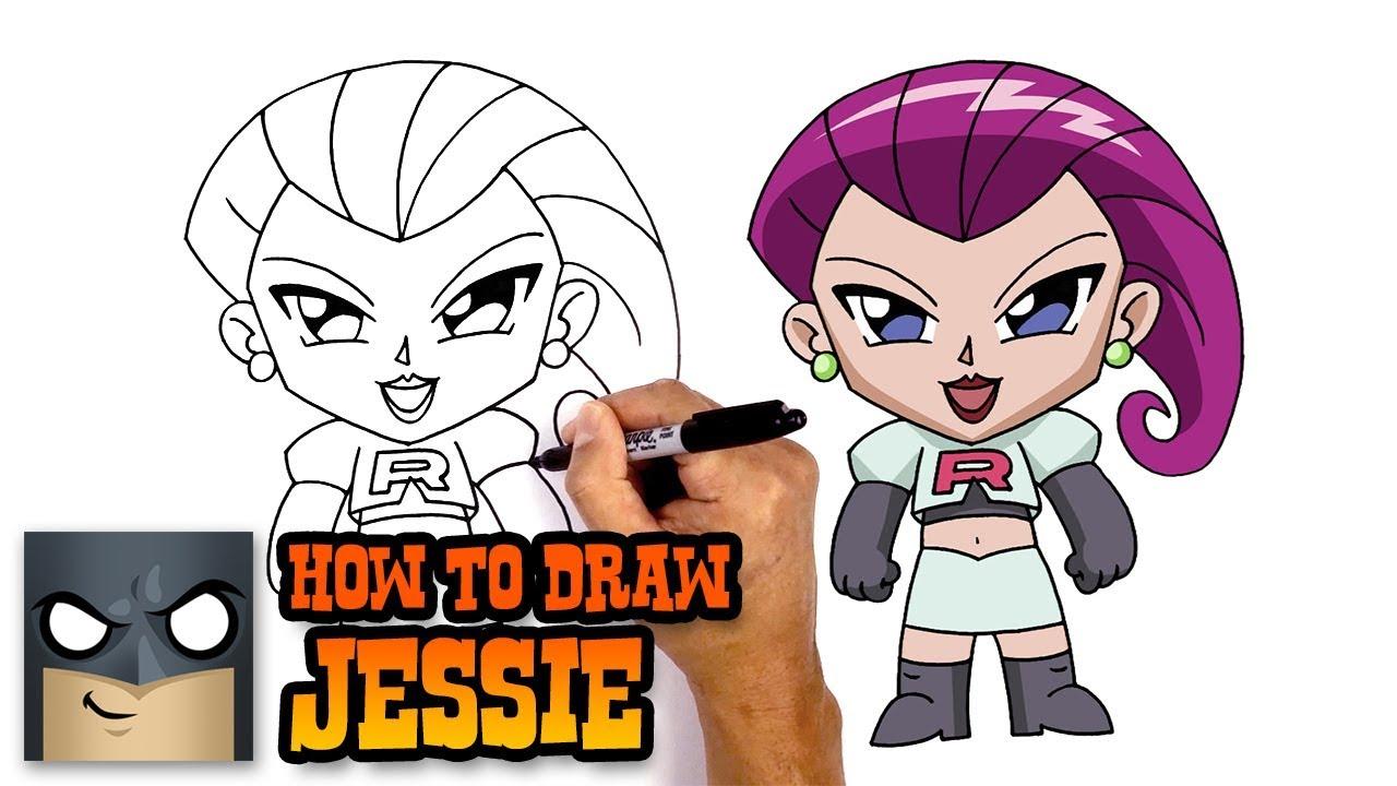 How To Draw Pokemon Jessie Step By Step Youtube