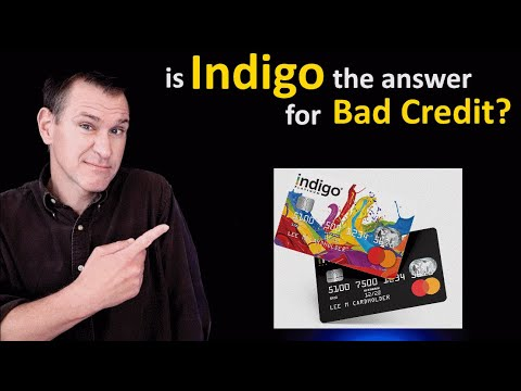 Indigo Credit Card Review Is Indigo Mastercard A Good Unsecured Credit Card For Bad Credit Youtube