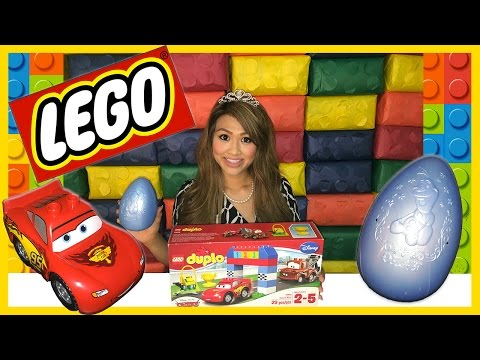 Thumbnail: Disney Cars Lightning McQueen Tow Mater Races Lego Duplo Egg Surprise Thomas and Friends Kids Toys