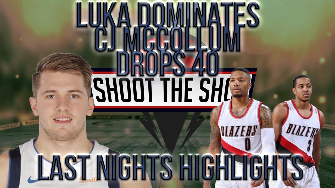 CJ McCollum Drops 40... is Luka Doncic winning Rookie of the Year? Last Night's Games!