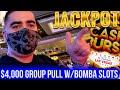 2 HANDPAY JACKPOTS On High Limit CASH BURST Slot | Group Pull w/BOMBA SLOTS