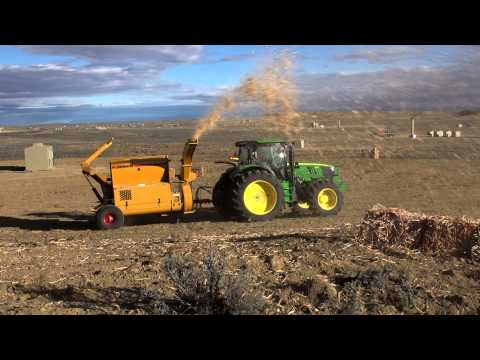 WoodStraw® Application Test with Bale Buster 2564 Model, Wyoming