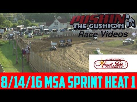 Angell Park Speedway 8/14/16 MSA Sprint Heat 1