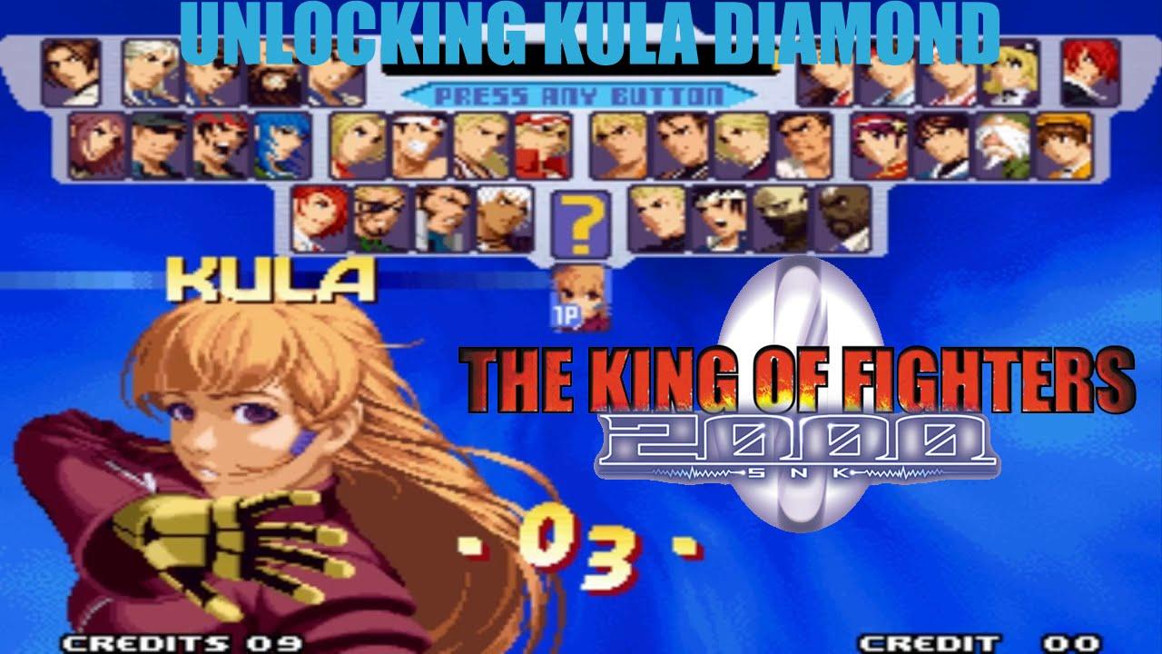 The King Of Fighters 2000 Unlocking Kula Diamond Arcade Version