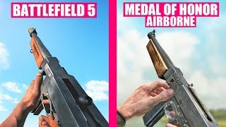 Battlefield 5 vs Medal of Honor Airborne Weapons Comparison