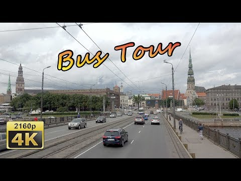 Riga, City Tour by Bus - Latvia 4K Travel Channel
