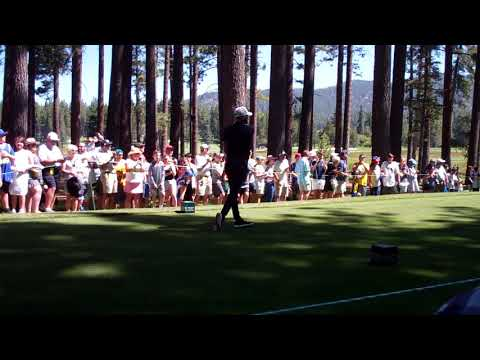 Steph Curry Nails Tee Shot At 2019 American Century Golf Event In Lake TAhoe
