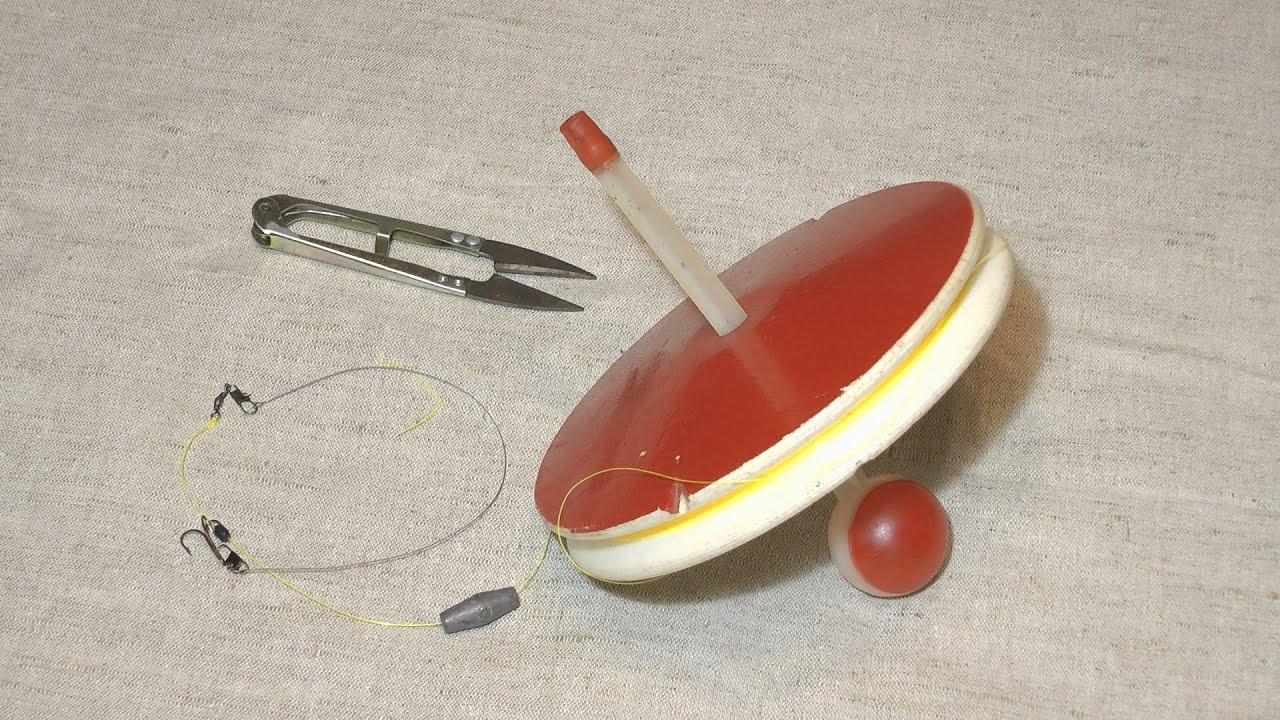 Как правильно оснастить кружок для рыбалки.