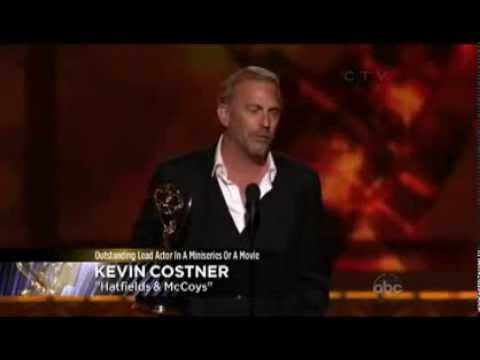 "Kevin Costner Winning the Emmy for Lead Actor in a Miniseries/TV Movie"" Hatfield & McCoys"""