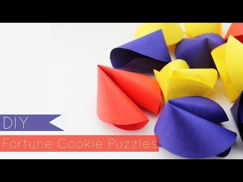 DIY Fortune Cookie Puzzles