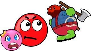 Новый КРАСНЫЙ ШАР 1. 18-20 УРОВНИ. Мультик ИГРА New Red Ball 1
