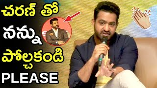 Don't Compare Ram Charan With Me Says Jr Ntr   Jr Ntr Ad For Celekt Mobiels   Tollywood Book