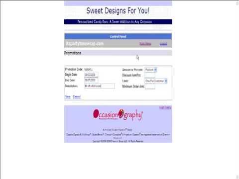OccasionOgraphy Dealer Website Control Panel - Promotion ...