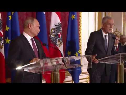 Пресс-конференция с Федеральным президентом Австрии Александром Ван дер Белленом