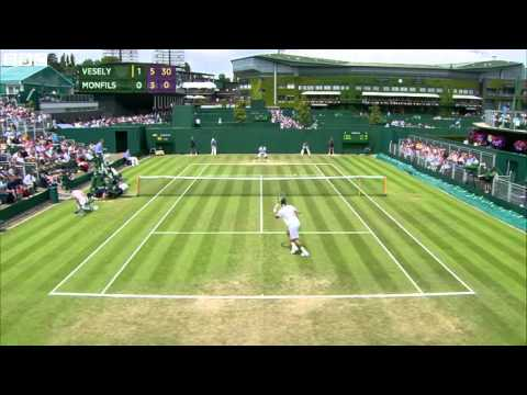 Wimbledon Tennis 2014 Gael Monfils bows out after crazy display