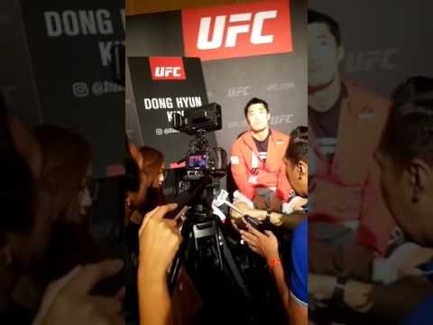 Dong Hyun Kim UFC Singapore Speaking with Media