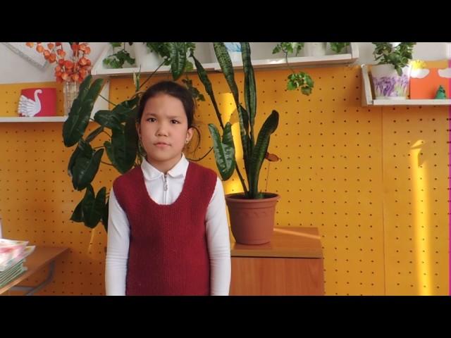 Изображение предпросмотра прочтения – СанияАлимбаева читает произведение «Послушайте! (Послушайте! Ведь, если звезды зажигают…)» В.В.Маяковского