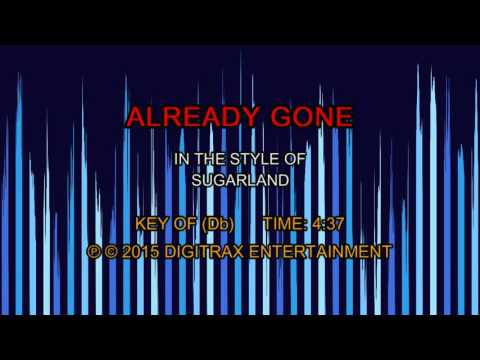 Sugarland - Already Gone (Backing Track)